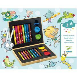 Djeco Kicsik színes készlete - Box of colours for toddlers