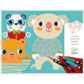 Djeco Színező készlet - Csinoskák - Cuties