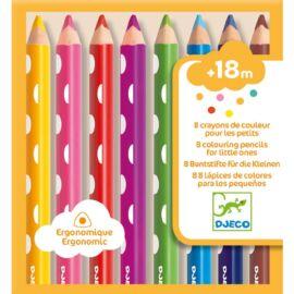 Djeco Színes ceruza készlet - 8 colouring pencils for little ones