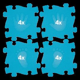 Muffik Magic Set Kéz-Láb Szőnyeg Kék