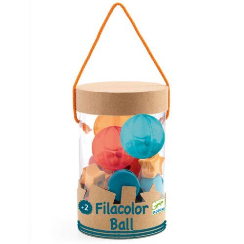 Djeco Fűzős játék - Faformák átlátszó golyókkal - Filacolor ball