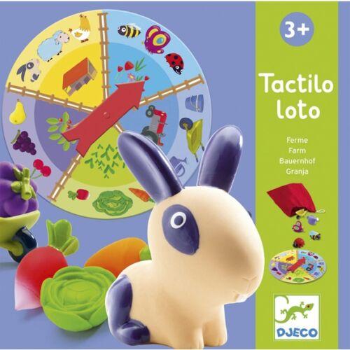 Djeco Fejlesztő társasjáték - Tapintható képeslottó - Tactilo lotto, farm