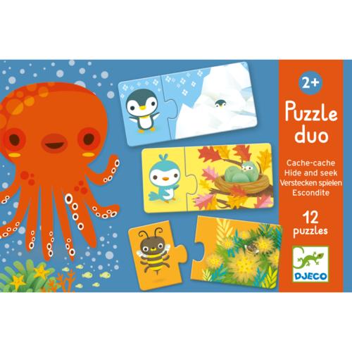Djeco Párosító puzzle - Bújócska - Hide and seek