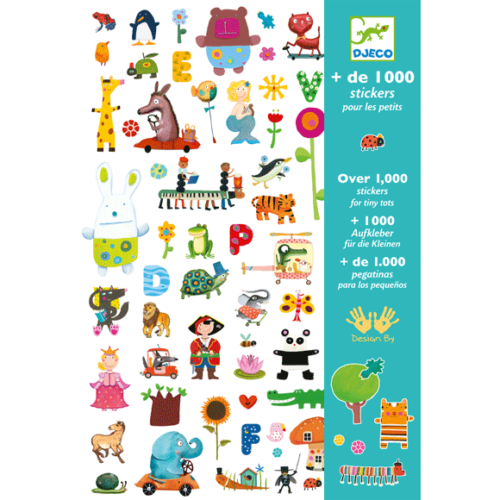 Djeco Matricák - 1000 matrica - 1000 stickers for little ones