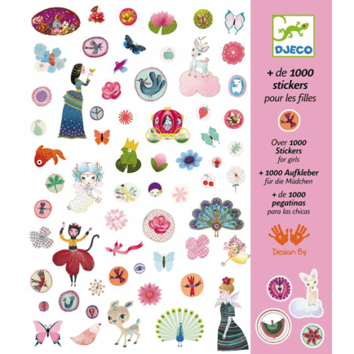 Djeco Matricák - Matricák - 1001 matrica - 1000 stickers for girls