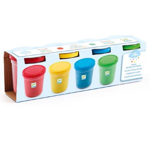 Djeco 4 szín pillegyurma - 4 tubs of play dough