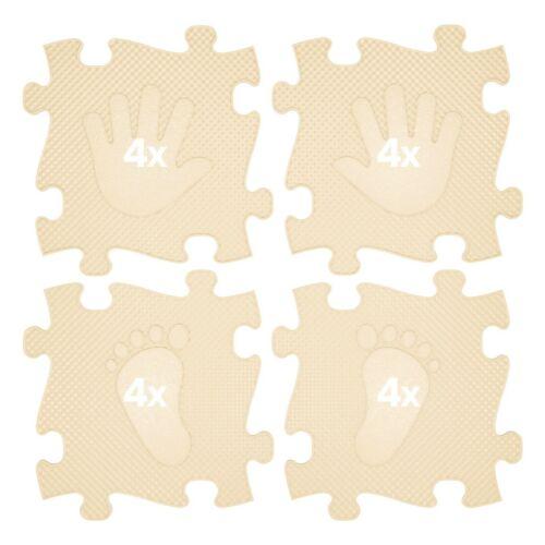 Muffik Magic Set Kéz-Láb Szőnyeg Bézs